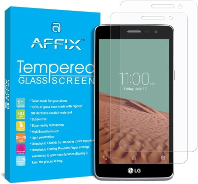 Affix Tempered Glass Guard for LG L Bello 2(Pack of 2)