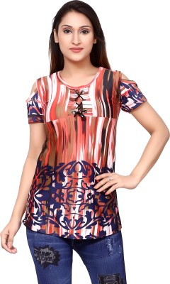 style looks Casual Regular Sleeve Printed Women Multicolor Top style looks Women\'s Tops