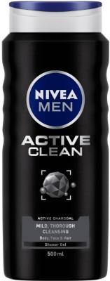 Nivea Men Active Clean Shower Gel, 500 ml  (500 ml)