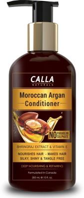 Calla Naturals Moroccan Argan Conditioner for Silky & Shiny Hair - No Parabean & Sulfate - 300ml(300 ml)