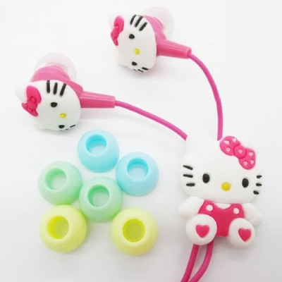 ARCI In-Ear Earphone, Hello Kitty Includes 3 Earplug Covers with Mic Wired Headset(Pink, Wired in the ear)