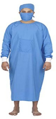 Agarwals Doctors OT Gown With Cap & Mask Green Gown Hospital Scrub(Green M)