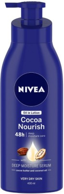 NIVEA Body Lotion for Very Dry Skin, Cocoa Nourish, with Coconut Oil & Cocoa Butter, For Men & Women(400 ml)