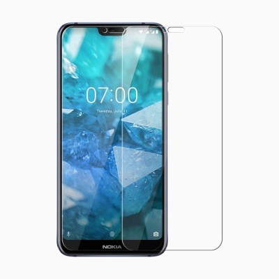FashionCraft Tempered Glass Guard for Nokia 8.1 {Flexible} (Free Bubble,Anti Explosion,Pro+ 2.5D Pro Tempered Glass for Nokia 8.1)(Pack of 1)