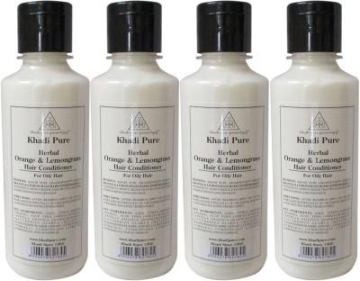 Khadi Pure Herbal Orange & Lemongrass Hair Conditioner - 840ml(840 ml)