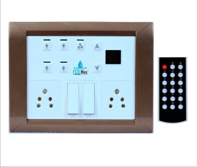 ECOMAX Remote controlled switchboard for 4 lights & 1 Fan - METALLIC...
