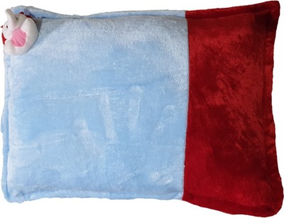 PINKS N BLUES WOOL, VELVET, 0 - 10 YEARS Baby Pillow(SKY RED)