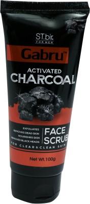 st.bir GABRU ACTIVATED CHARCOAL FACE SCRUB FOR CLEAR & CLEAN SKIN Scrub(100 g)
