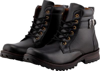 BJOS Rocking Long Boots For Men(Black)