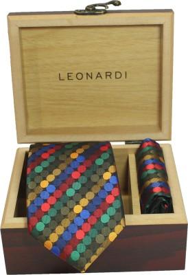 Leonardi Self Design Tie(Pack of 2)