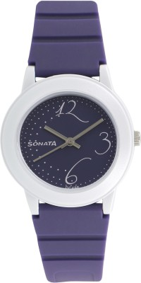 Sonata NG8992PP02CJ Fashion Fibre Analog Watch - For Women