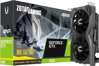 ZOTAC NVIDIA GAMING GeForce GTX 1660 AMP Edition 6 GB GDDR5 Graphics Card(Black, Grey)