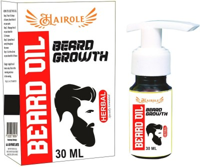Hairole Beard Oil For Beard Growth Hair Oil(30 ml) at flipkart