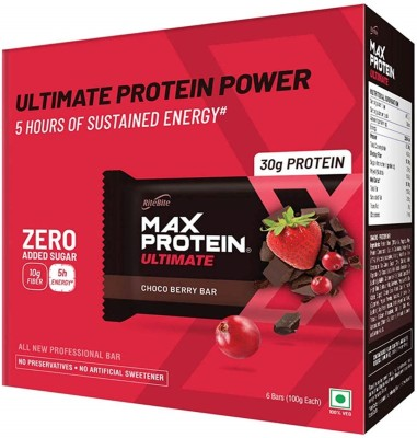 RiteBite Max Protein Ultimate Protein Bars(600 g, Choco Berry)