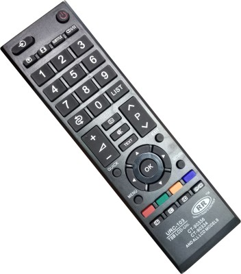 """Axelleindia LED/LCD TV Compatible Replacement Remote""""CT-90336,CT-90334""""(Please match The image with your old remote) toshiba Remote Controller(Black)"""
