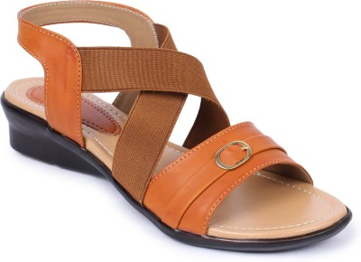 Naisha Women Tan Wedges