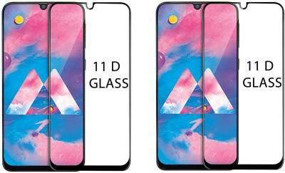 LORTZEA Edge To Edge Tempered Glass for SAMSUNG GALAXY M30 11D (Pack of 2) (Shatterproof) (Antifingerprint) (Scratch Resistant) (Oleophobic Coating)(Pack of 2)