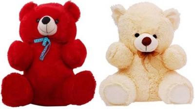 AVS Combo Offer  Pack of 2  2 Feet Teddy Bears   60 cm Red ,Cream AVS Soft Toys