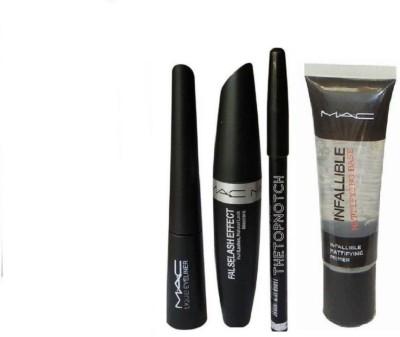 TheTopNotch Eyebrow Pencil Black & Liquid EyeLine(4 Items in the set)