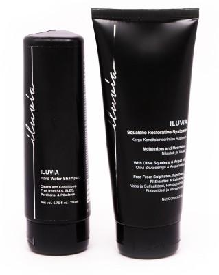 iluvia Hard Water Shampoo & Squalene Restorative System(400 ml)