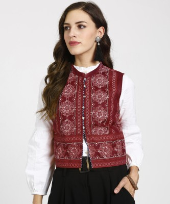 Aurelia Sleeveless Printed Women Jacket
