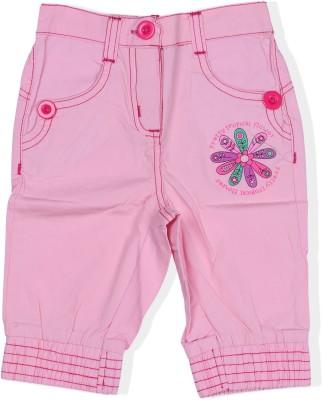 jsr Short For Girls Casual Embriodered Cotton Blend(Pink, Pack of 1)