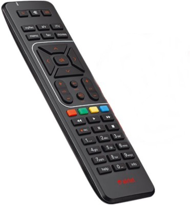 Airtel 100% ORIGINAL Universal (CHECK IMAGES BEFORE PURCHASE) Remote Controller(Black)