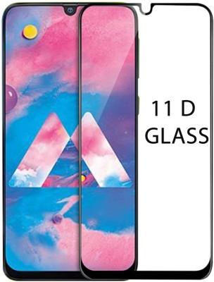 LORTZEA Edge To Edge Tempered Glass for SAMSUNG GALAXY M30 11D (Shatterproof) (Antifingerprint) (Scratch Resistant) (Oleophobic Coating)(Pack of 1)