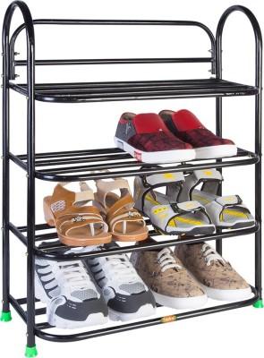Patel Metal Shoe Stand ( Black- 4 Step ) Metal Shoe Stand(Black, 4 Shelves)