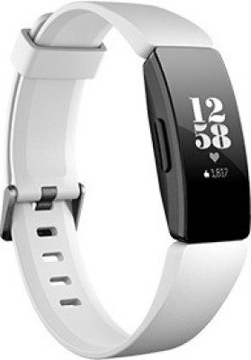 Fitbit Inspire HR(White Strap, Size : Regular)