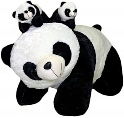 ZOOMINO Black   White Panda With Baby Panda Set  50cm    50 cm Multicolor ZOOMINO Soft Toys