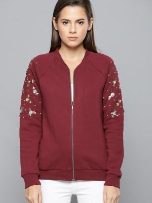 Chemistry Full Sleeve Solid Women Sweatshirt at flipkart