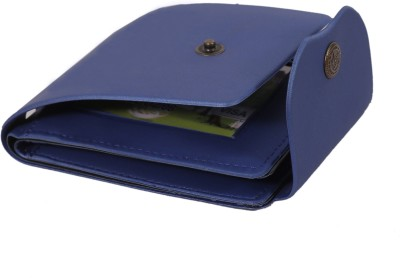 Honbon Men Casual Blue Artificial Leather Wallet 2 Card Slots