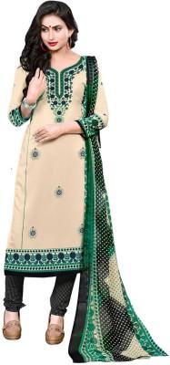 Saara Poly Crepe Printed Salwar Suit Dupatta Material