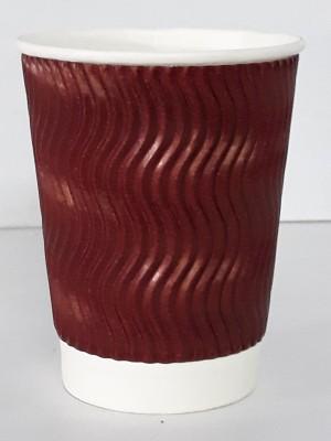 Worldstar RIPPLE GLASS 250 Paper Mug(250 ml, Pack of 25)