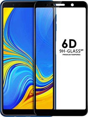 9H Edge To Edge Tempered Glass for Samsung Galaxy A7 2018 (6D Full Glue Tempered Glass)(Pack of 1)