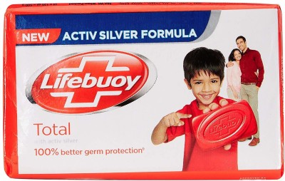 Lifebuoy Total 10 Soap with Activ Natural Shield - 125g (Pack of 4)(4 x 125 g)