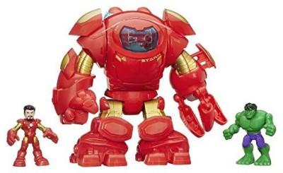 Playskool Heroes Marvel Super Hero Adventures Stark Tech Armor With Tony Stark Figure(Multicolor)