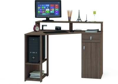 Furn Central Engineered Wood Study Table(Free Standing, Finish Color - Brown)