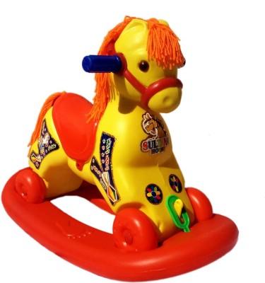 little impex 2 in 1 Horse Rocker 'n' Ride on(Multicolor)