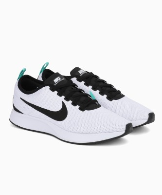 Nike NIKE DUALTONE RACER Running Shoes For Men(White) 1
