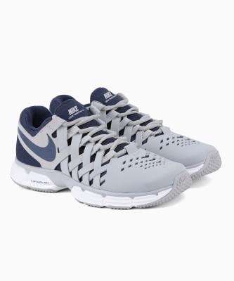 Nike LUNAR FINGERTRAP TR Training & Gym Shoes For Men(Grey, Navy) 1