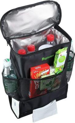 Hojo Car Back Seat Organizer Multifunctional Insulated Thermal Cooler Bag Tissue Box Holder Fabric Travel Storage Hanging Bags Car Multi Pocket 5 L Ho