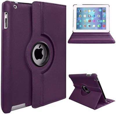 Beebox Flip Cover for Apple iPad 2 Ipad 3 Ipad 4 Degree Rotating Leather Case Cover(Purple)