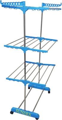 SUNDEX Steel Floor Cloth Dryer Stand MALTICOLOUR-777(3 Tier)