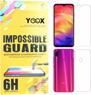 YOOX Front and Back Screen Guard for Mi Redmi Note 7, Mi Redmi Note 7 Pro, Mi Redmi Note 7S(Pack of 1)