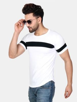 SCATCHITE Solid Men's Round Neck White T-Shirt