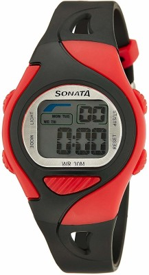 Sonata NH87011PP02 Super Fibre Digital Grey Dial Men's Watch (NH87011PP02)