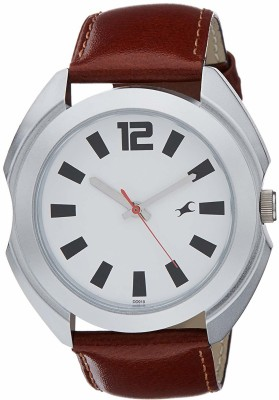 Fastrack NG3117SL01 Bare Basic Analog Watch   For Men Fastrack Wrist Watches