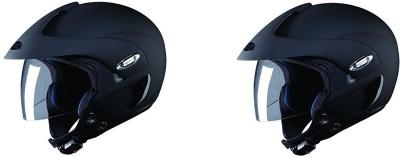 Studds Marshall SUS Motorbike Helmet(Black)